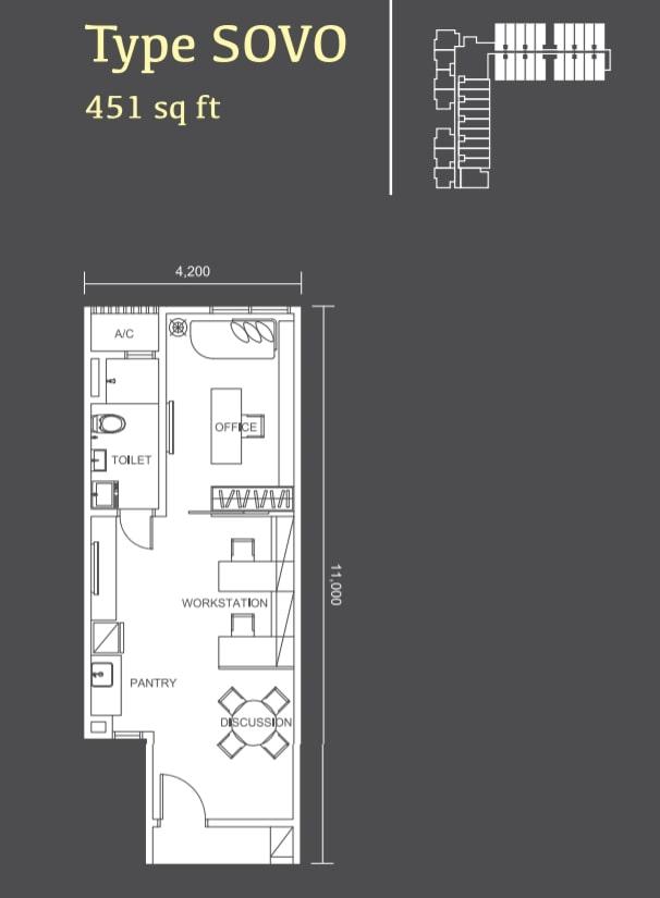 Habitus Denai Alam Floor Plan Type SOVO