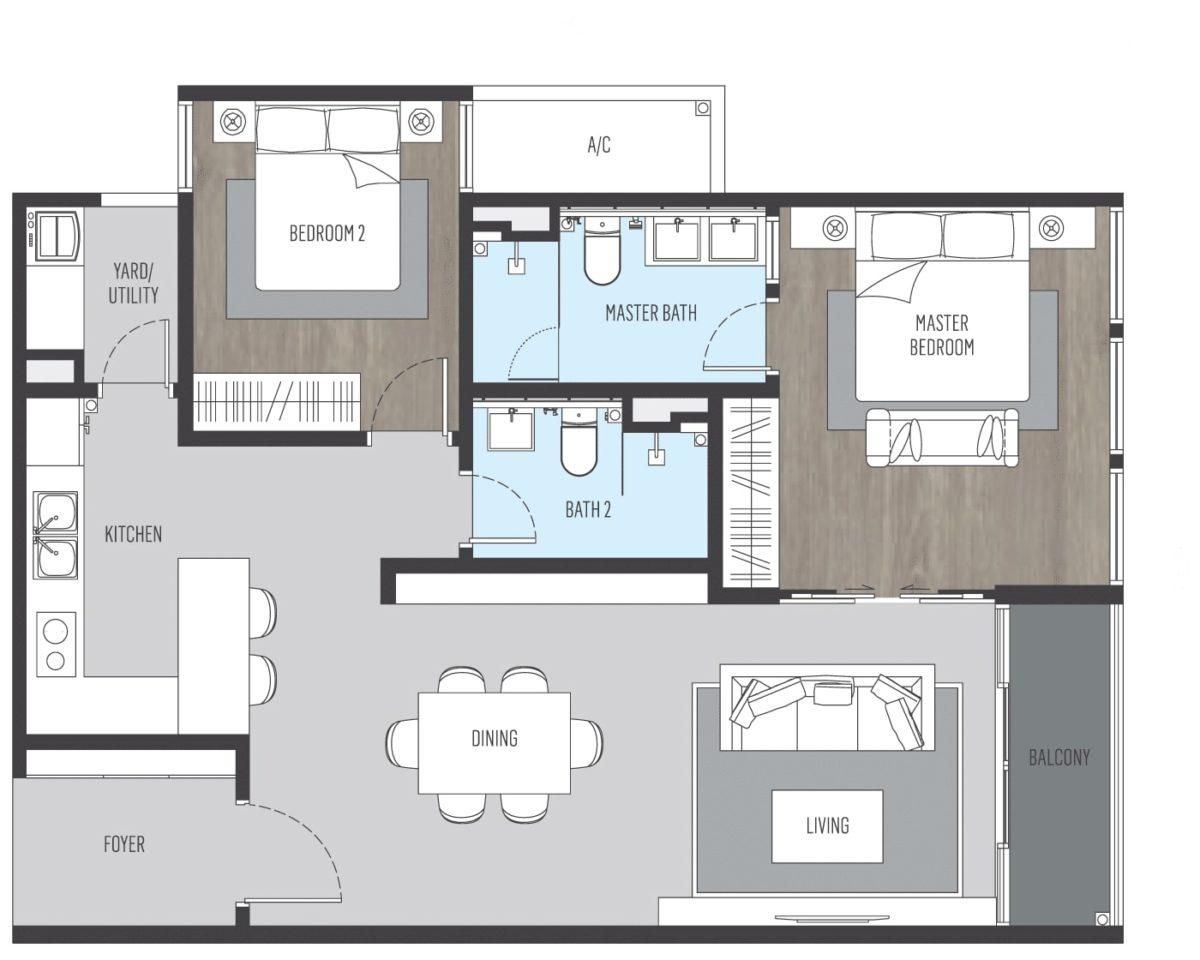 Alix B3型公寓
